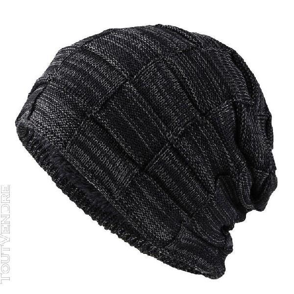 Femmes hommes chaud baggy weave crochet duvet d'hiver
