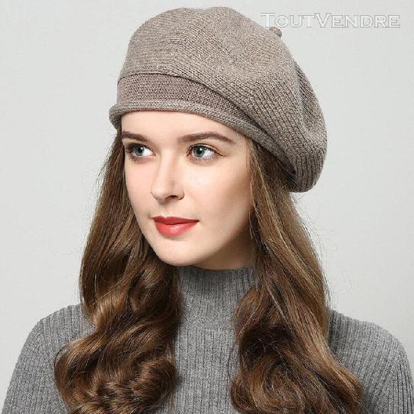 Les femmes hiver chaud cap bonnet beret baggy bonnet slouch
