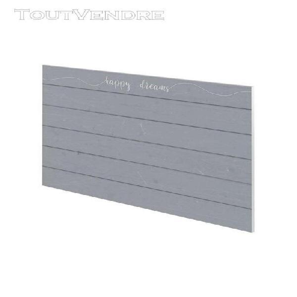 Happy dreams tete de lit style classique gris mat - l 160 cm