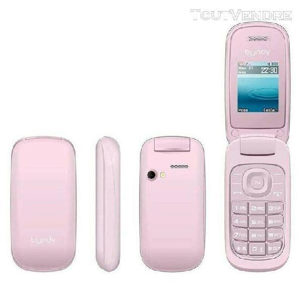Portable téléphone a clapet rose neuf avec son chargeur