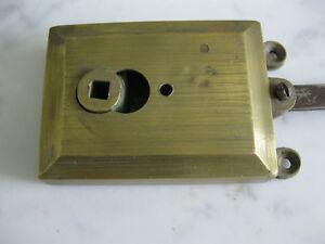 Serrure articulee porte entrée bronze/laiton art deco