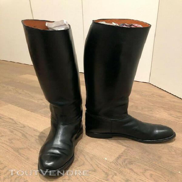 Bottes equitation cadre noir soubirac cuir noir t. 43 ex
