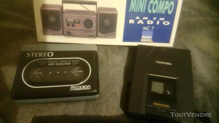 Lecteurs cassette - cd - mini radio fm vintage