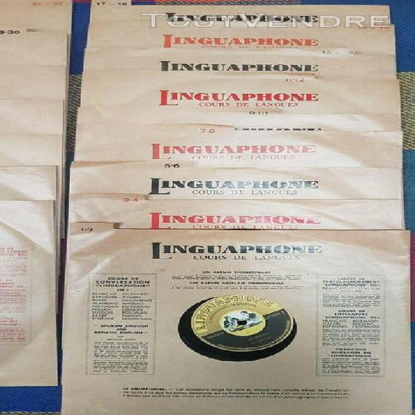 Linguaphone 16 disques 78t apprentissage langue allemand