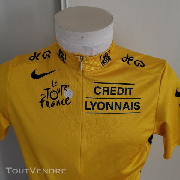 Maillot de cyclisme maillot jaune tour de france taille l