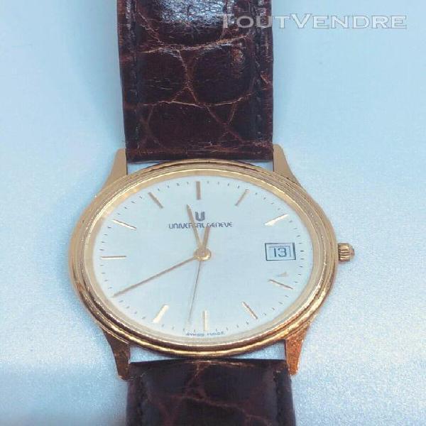 Montre marque universal genève or 18 carat vintage watch