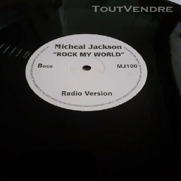 "Rare maxi 12"" vinyle michael jackson "" rock my world"""