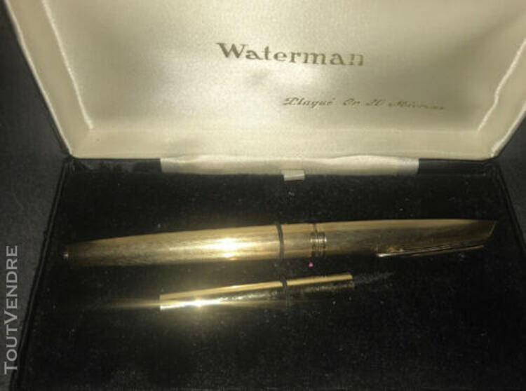 Stylo plume waterman plaque or