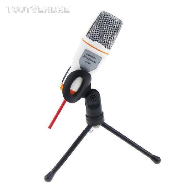 Audio pro microphone sonore à condensateur micro blanc