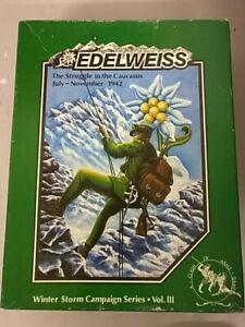 Edelweiss - splendide wargame clash of arms - rare - nickel