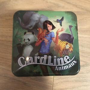 Jeu cardline animaux - contenu neuf - boîte métallique