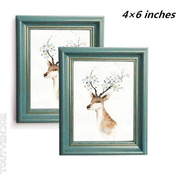 Déco mural cadre photo 4 × 6 en bois - shabby chic vintage