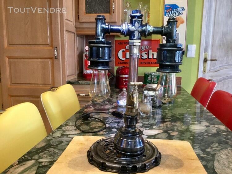 Industrielle steampunk-lampe handgemacht