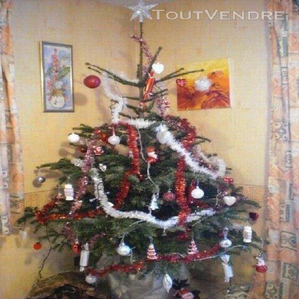 Lot decoration noel blanc rouge argent + guirlandes lumineus