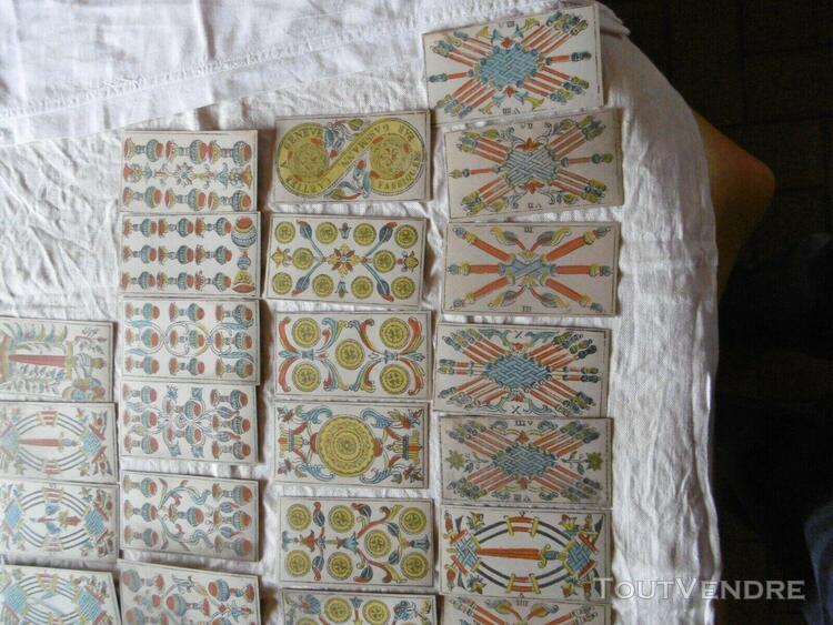 Ancien jeux de tarot de marseille 75 cartes gassmann-cartier