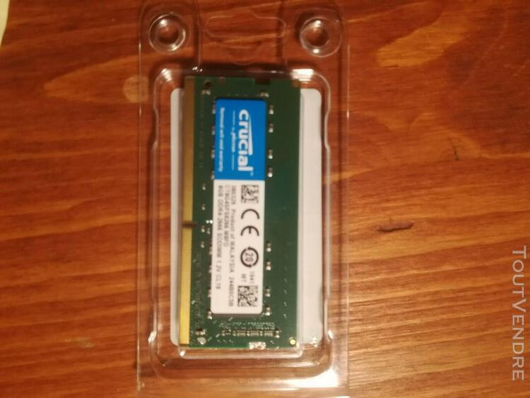 Crucial 8gb ram ddr4 notebook never used