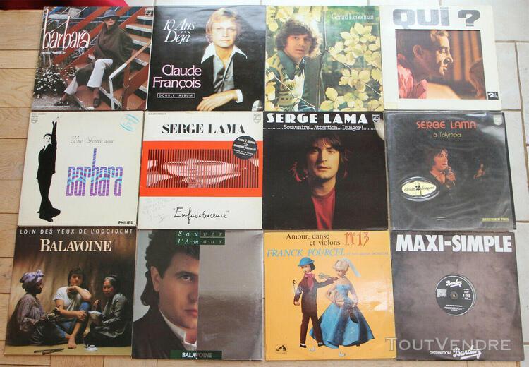 Lot de 51 vinyles lp chansons françaises