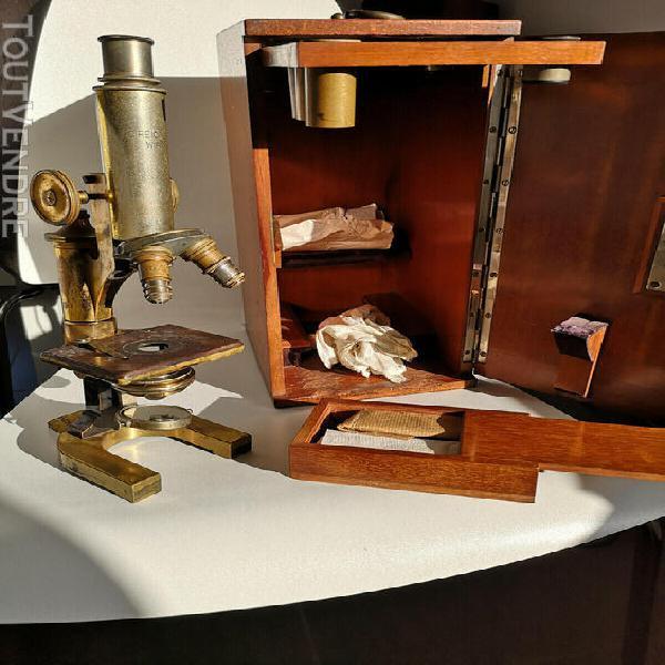 Microscope ancien fin 19 ème c reichert wien