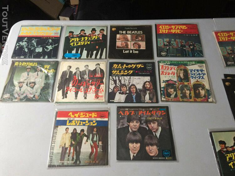 "The beatles job lot 45s 7"" apple japan"