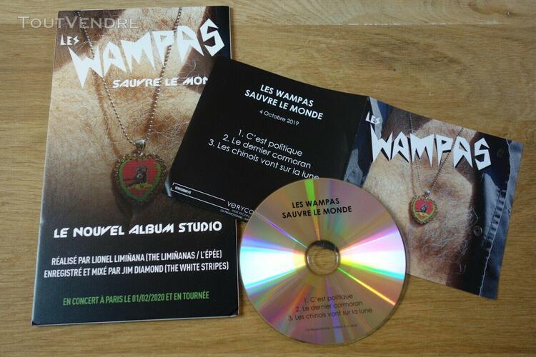 Wampas - sauvre le monde - rare cd + plv!!