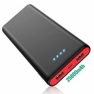 Chargeur batterie externe 25800[noire et rouge hx-y8]