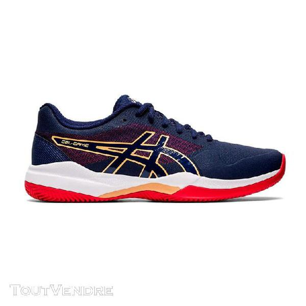 Chaussures: asics gel game 7 clay bleue rouge 1041a046 400-t