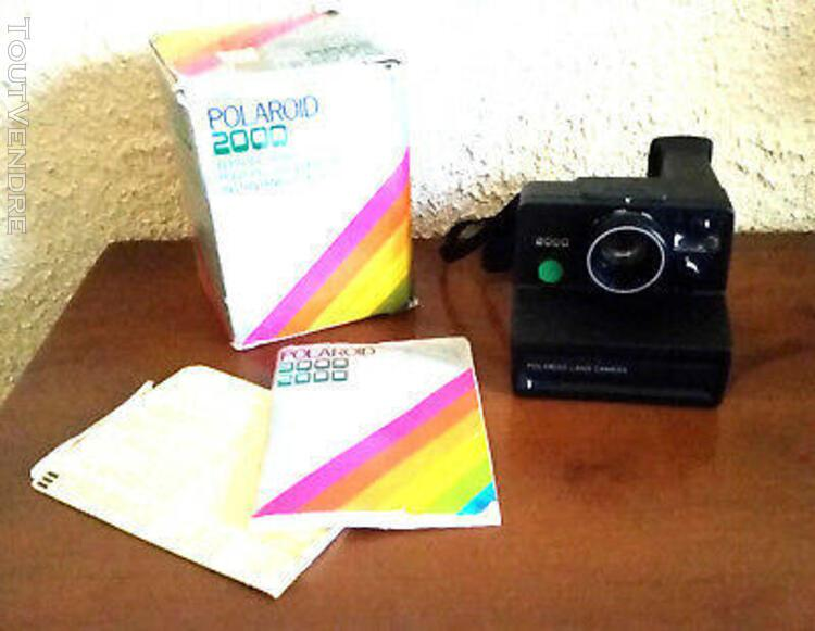 "Polaroid 2000 land camera, bouton vert "" complet en boite,"