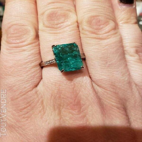 Bague opale de 7.36 cts montée sur argent sterling 925