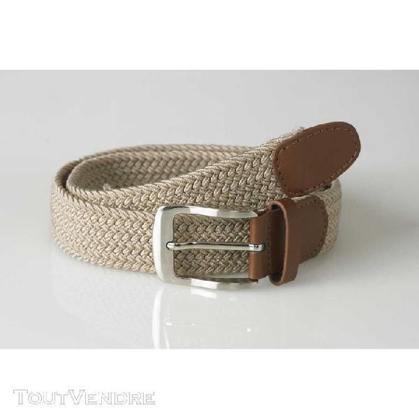 Duke - ceinture tressée grande taille frank - homme (beige)