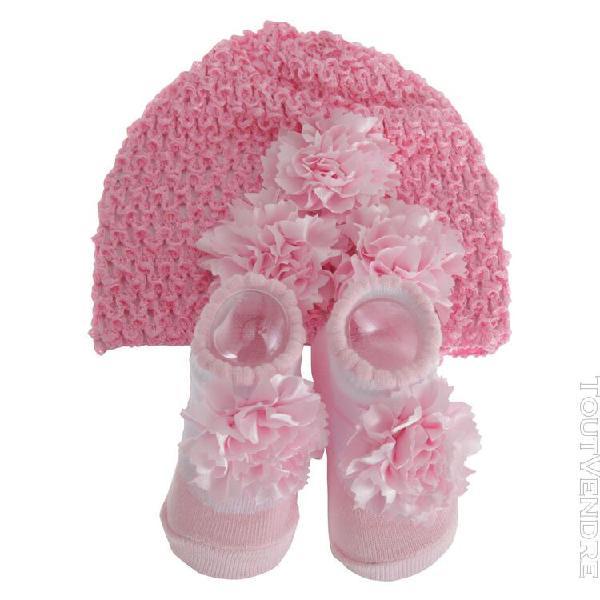 Nursery time - ensemble cadeau chaussons et bonnet - bébé
