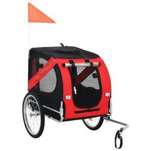 Remorque de vélo pour chiens rouge et noir