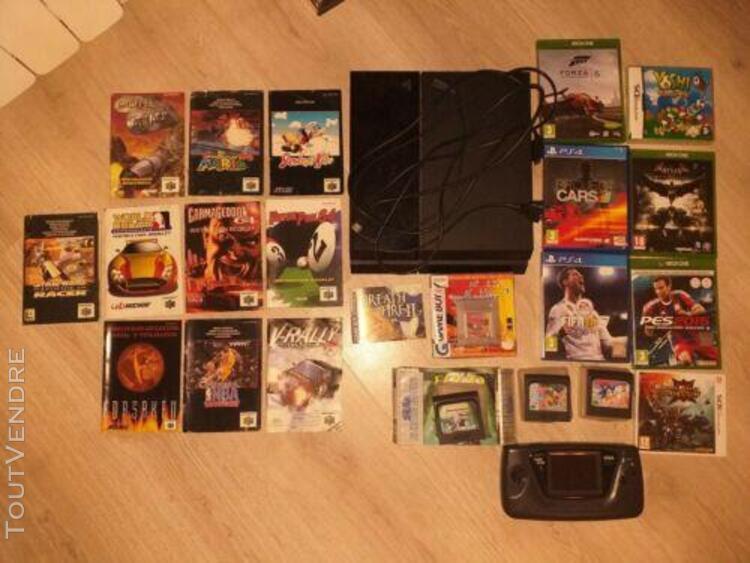 Console ps4 slim + lot jeux vidéo et manette ps4
