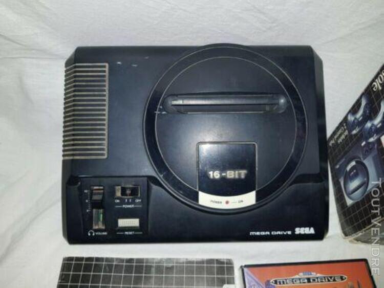 Console sega mega drive en boite + jeux sonic the hedgehog