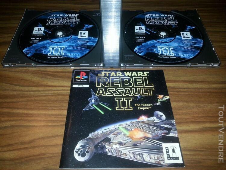 Jeux ps1 ps2 star wars rebel assault ii / guerre des