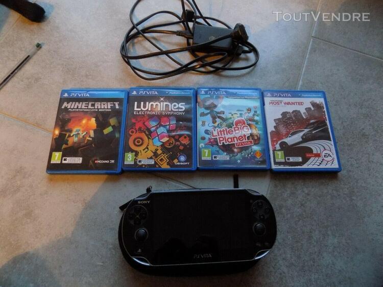 Ps vita sony playstation + 4 jeux pch-1004