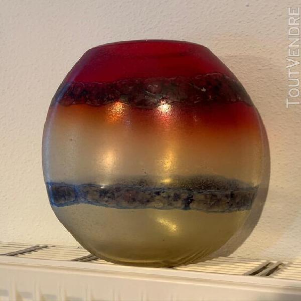 Vase en verre de murano signé alfredo barbini