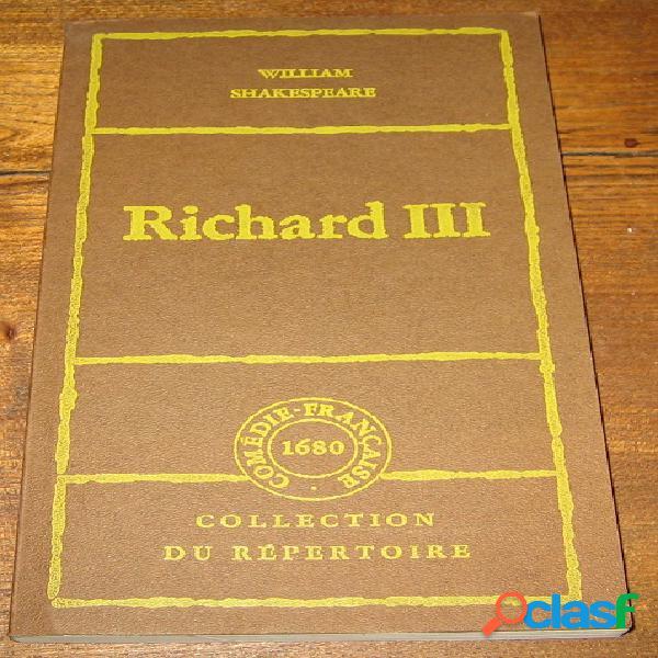 Richard iii, william shakespeare