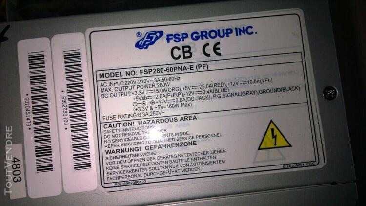 Alimentation pc atx fsp280-60pna-e (pf) 280w