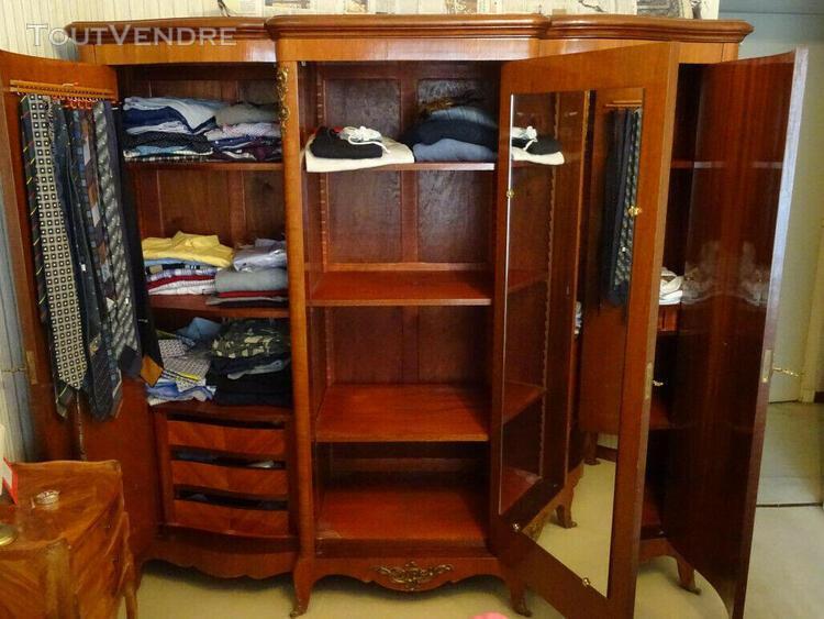 armoire en bois de rose 3 portes