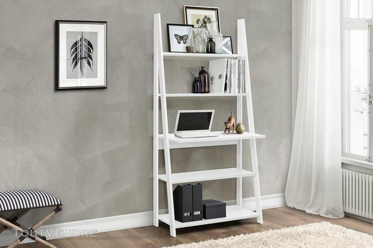 bureau Échelle avec Étagère style scandinave - coloris