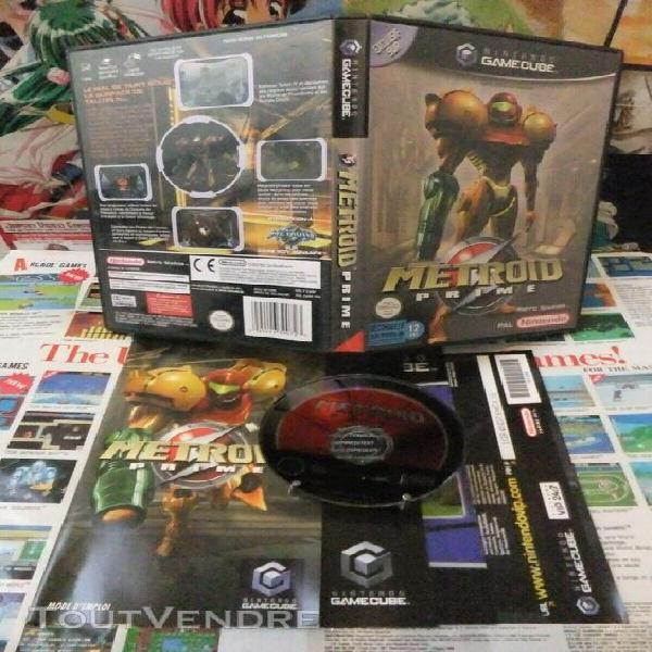 Game cube:metroid prime [top retro studios & 1ere edition] f