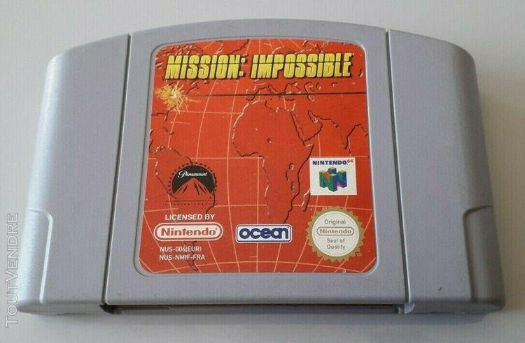 """jeu nintendo 64 """"mission impossible"""" fra n°2954"""