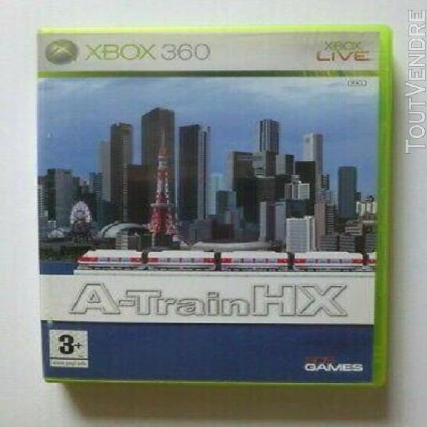 jeu xbox 360 a-train hx