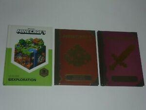 Lot 3 livres minecraft guides officiels exploration + combat