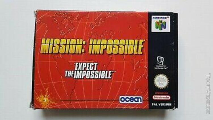 mission impossible - sans jeu - pal - nintendo 64 n64
