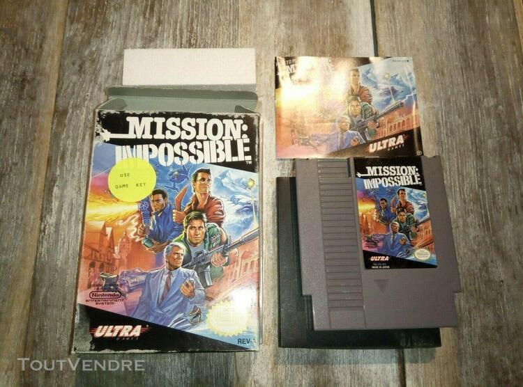 mission impossible usa boite - jeu nintendo nes - complet