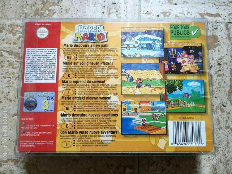 Paper mario 64 - nintendo 64 n64 - complet boite notice pal