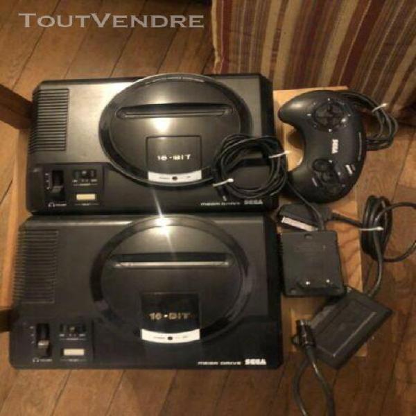 Sega mega drive fois 2 avec cables et manette