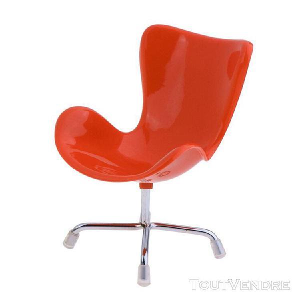 1/6 scale miniature chaise plastique/métal meubles de