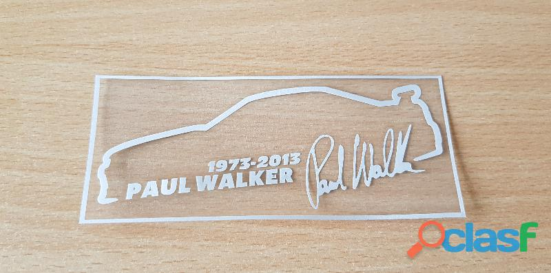 Autocollant sticker hommage paul walker 1973 2013 fast and furious 13,5x5,5 cm